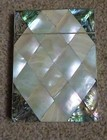 MOTHER OF PEARL & ABERLONE CARD CASE w. UNINSCRIBED CARTOUCHE