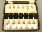 BOXED SET OF SILVER LINCOLN IMP COFFEE SPOONS