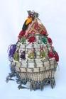 Quite rare pair of late 19th century Turkmenistan wedding headdresses