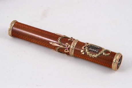 A 20th century Russian Faberge style cigar holder