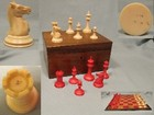 Late 19th century ivory Staunton Library Chess Set by Jaques of London