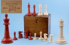 Late 19th century Anglo Indian Campaign bone Staunton pattern Chess Set