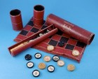 Late C19th Backgammon, Chess & Draughts Traveling Games Tube by Jaques of London