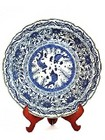 A 19th century Chinese Qing Dynasty Blue and White porcelain dish