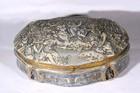 A 19th century Minton porcelain casket