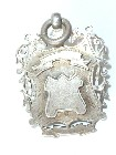 ANTIQUE SILVER FOB MEDAL for POCKET WATCH ALBERT CHAIN