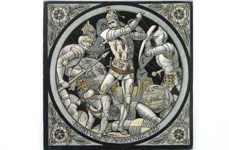 MINTON HOLLINS MOYR SMITH ENGLISH HISTORY TILE: HENRY V 1415