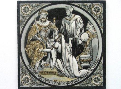 MINTON HOLLINS MOYR SMITH ENGLISH HISTORY TILE: HENRY VIII 1528