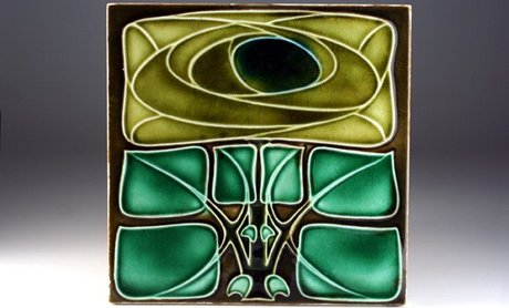 ENGLISH ART NOUVEAU TILE IN RENNIE MACKINTOSH STYLE BY RICHARDS