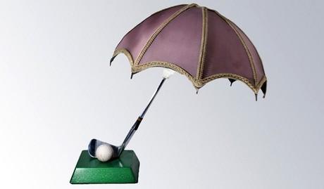RARE FERGUSON SPORTS GOLF TABLE LAMP, FULLY FUNCTIONAL