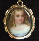 Fine GEORGIAN Antique Gold Mourning Portrait Miniature Necklace