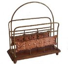 Edwardian brass and copper magazine rack