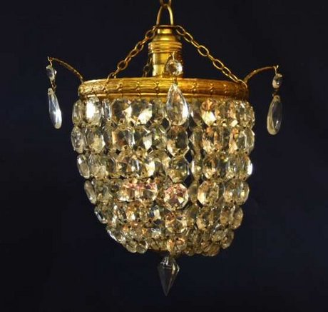 Edwardian crystal chandelier