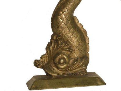 Antique brass fish door stop 33775 for sale decorative for Fish door stop
