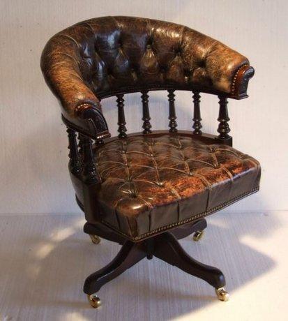Victorian mahogany revolving office chair