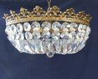 Large low antique chandelier