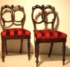 Pair of Regency side chairs