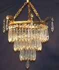 Stunning Edwardian 3 tier icicle drop chandelier