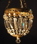 Small antique purse chandelier