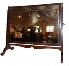 Edwardian mahogany rectangular dressing table mirror.