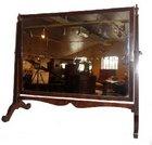 Edwardian mahogany rectangular dressing table mirror.
