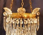 Small Edwardian icicle chandelier