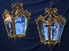 Pair of Antique brass Hall Lanterns