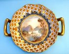 Coalport Hand Painted Two Handled Dish