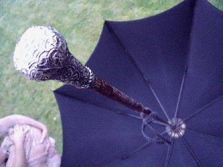 Edwardian Silver Handle Kendall & Sons Umbrella