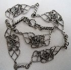 Sterling Silver Floral Panels Necklace