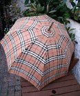 Vintage Burberrys Check Paragon Fox Frames Umbrella