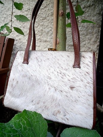 Waldybag Fur Morocco Brown Leather Handbag Original Box