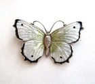 Charles Horner Sterling Silver and Enamel Butterfly Brooch