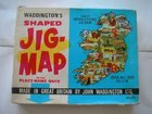 JIG MAP IRELAND VINTAGE WADDINGTON SHAPED PUZZLE