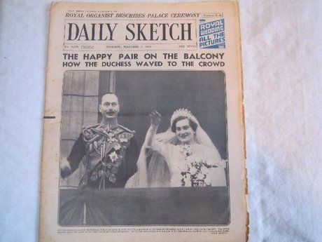DAILY SKETCH 7.11.35 MARRIAGE OF DUKE & DUCHESS GLOUCESTER