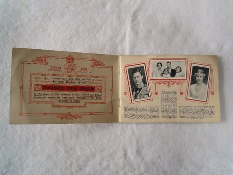 OUR KING AND QUEEN  W.D. & H. WILLS CIGARETTE CARDS