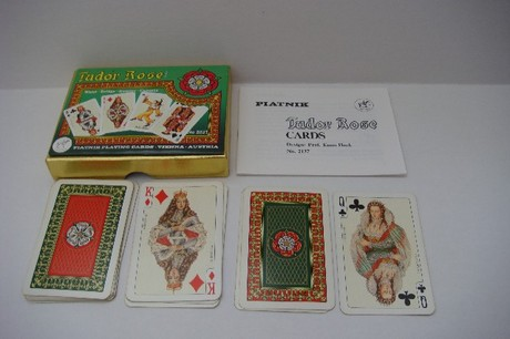 TUDOR ROSE : Piatnik Playing Cards
