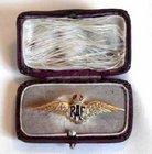 Gold RAF Wings Brooch
