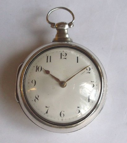Sam Hulbert. Marshfield. Pair cased verge pocket watch.
