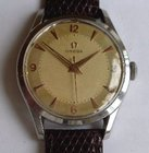 Omega men's stainless steel wristwatch.