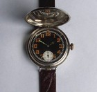 W&D WW1  hunting cased men's silver wristwatch