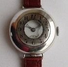 WW1 half hunter men's silver wristwatch