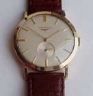 Longines men's gold wristwatch with original box & papers