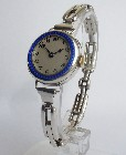 Buren. Ladies silver & enamel Art Deco wristwatch.