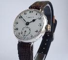 J W Benson men's pre WW1 silver wristwatch.