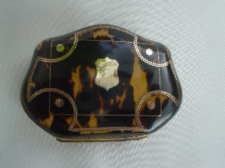Victorian Tortoiseshell and Gold Pique Purse