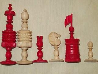 English Barleycorn Chess Set
