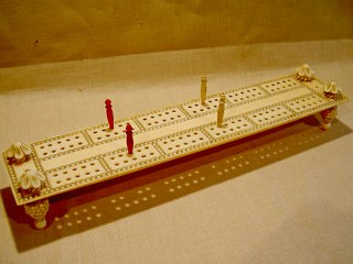 Anglo Indian Cribbage Board