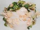 Peach Silk Flower Hat