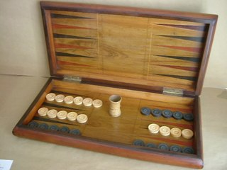 Irish Kilarney Chess & Backgammon Board